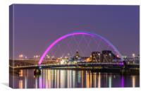 Glasgow cityscape, Canvas Print