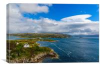 View of Kyle of Lochalsh, Canvas Print