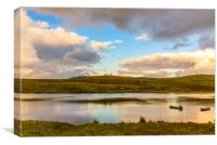 Sunset light in the Isle of Skye, Canvas Print