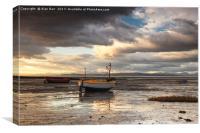 Morecambe Bay Sunset , Canvas Print
