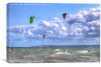 Surfing the Solent, Canvas Print