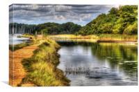 Hamble River HDR, Canvas Print