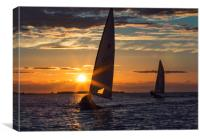 Sunset Sailing, Canvas Print
