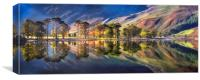 Summer Morning Reflections at Buttermere, Canvas Print