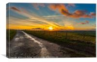 Sunset at Hackpen Hill, Canvas Print