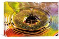 Rainbow Fountain, Canvas Print