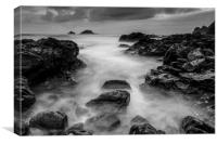 Mist On The Water in Black and White, Canvas Print