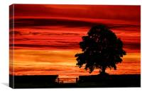 Spectacular sunset in the Derbyshire dales, Canvas Print