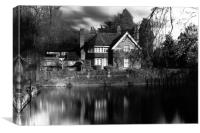 Mill Cottage Goring , Canvas Print