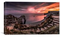 Jurassic SUNDOWN Durdle Door, Canvas Print