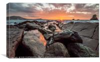Jurassic Sunrise Mupe Bay, Canvas Print