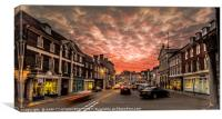 Blandford Sky of fire, Canvas Print