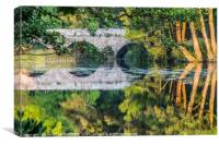 Stour Bridge Summer reflections, Canvas Print