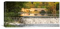 Weir Stour Reflections, Canvas Print