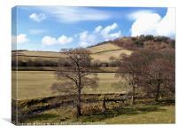 Shire Hill in Winter, Canvas Print