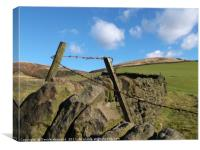 Pennine Wall , Canvas Print