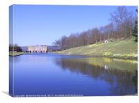 Lake at Chatsworth , Canvas Print