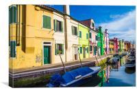 Boats in Burano, Canvas Print