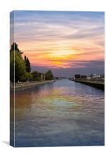 Ballard Locks at Sunrise, Canvas Print