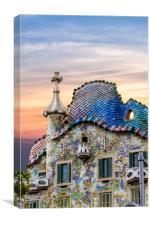 Gaudi Facade, Canvas Print