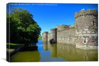 Beaumaris Castle Anglesey , Canvas Print