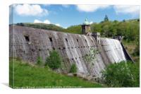 Pen-y-Garreg Dam            , Canvas Print
