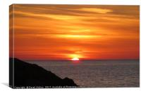Sunset over Coral Bay, Canvas Print