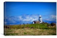 Caldey Island Lighthouse                          , Canvas Print