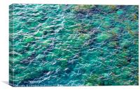 Ocean water texture., Canvas Print