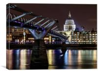 St Pauls Cathedral Long Exposure, Canvas Print