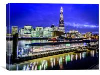 Blue Hour at The Shard, Canvas Print
