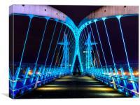 Millennium Bridge, Salford Quays., Canvas Print