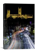 Lincoln Cathedral Traffic Trail, Canvas Print