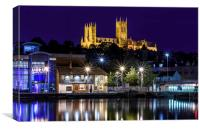 Lincoln Cathedral Cityscape, Canvas Print