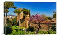 Cathedral of the Catholic monastery in Spain, Canvas Print