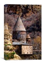 egeghard tower in Armenia, Canvas Print