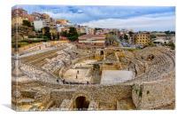 Spain, Tarragona, ancient Roman amphitheater, Canvas Print
