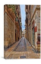 Spain, Tarragona . street, Canvas Print