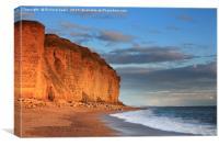 Burton Bradstock Cliffs, Canvas Print