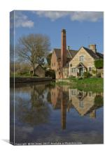 Lower Slaughter, Gloucestershire, Canvas Print