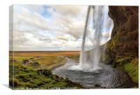 Seljalandsfoss Waterfall, Iceland, Canvas Print