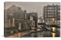 The Canals of Birmingham, Canvas Print