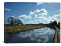 Cloud Reflections, The Grand Union Canal, Canvas Print