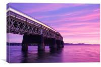Tay Rail Bridge at Sunset, Canvas Print