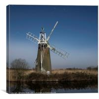 Norfolk windpump, Canvas Print