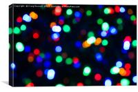 Abstract Christmas Lights, Canvas Print