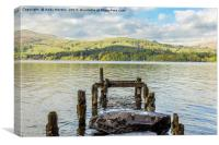 Old Jetty Looking Over Lake Windermere, Canvas Print