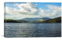 View Of The Mountains Over Lake Windermere, Canvas Print