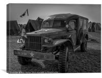 Dodge WC54 Ambulance, Canvas Print
