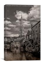 The Church In The Old Town Of Harfleur, France, Canvas Print